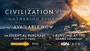 Sid Meiers Civilization vi Gathering Storm Update v1 0 0 314 Full Pc Game + Crack